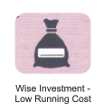 wise investment-low running cost